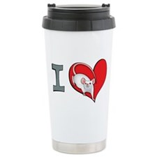 I heart mice Ceramic Travel Mug