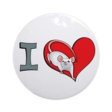 I heart mice Ornament (Round)