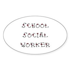 School SW Hearts Oval Sticker (10 pk)
