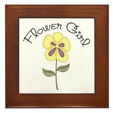 Flower Girl Framed Tile