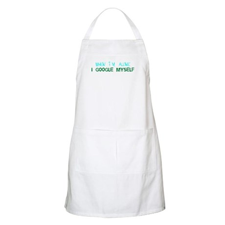 When I'm Alone I Google Myself BBQ Apron