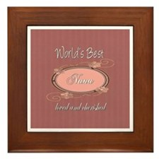 Cherished Nana Framed Tile