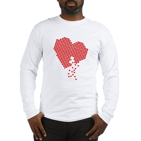 Digital Hearts Long Sleeve T-Shirt
