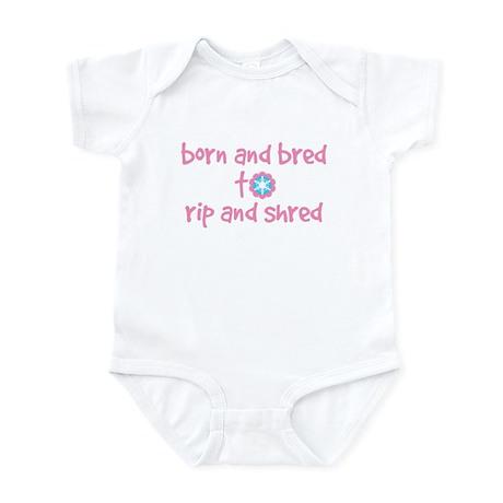 Born and Bred Snow Flower Infant Bodysuit