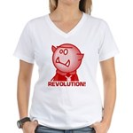 Redcloak: REVOLUTION! Women's V-Neck T-Shirt