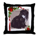 Shih Poo Throw Pillow