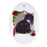 Shih Poo Oval Ornament
