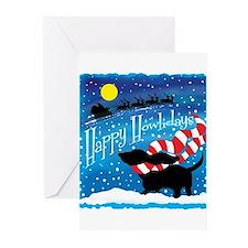 Basset Scarf Greeting Cards (Pk of 20)