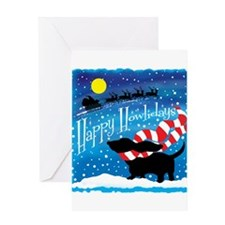 Basset Scarf Greeting Card