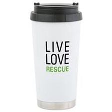 Live Love Rescue Ceramic Travel Mug