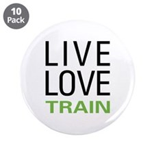 "Live Love Train 3.5"" Button (10 pack)"