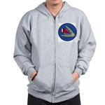 Giant Sling Shot (Blue) Zip Hoodie