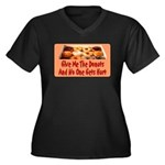 Give Me The Donuts Women's Plus Size V-Neck Dark T