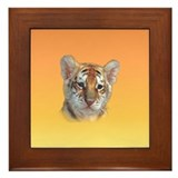 Tiger Cub Framed Tile