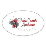 BraC Awareness 1 Butterfly 2 Oval Decal