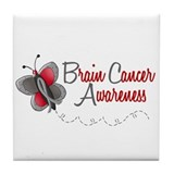 BraC Awareness 1 Butterfly 2 Tile Coaster