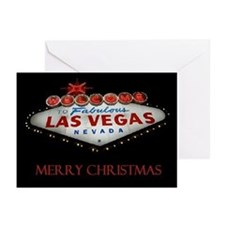 Las Vegas Silent Night Merry Christmas Cards 10