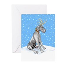 Great Dane Deer Black UC Greeting Cards (Pk of 20)