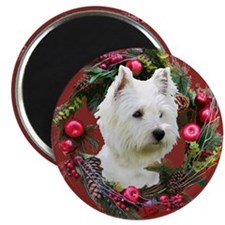 "Warm Westie Wishes 2.25"" Magnet (100 pack)"