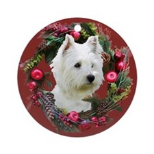 Warm Westie Wishes Ornament (Round)