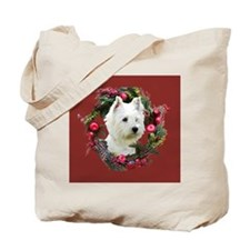 Warm Westie Wishes Tote Bag