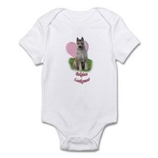 belgian laekenois heart Infant Bodysuit