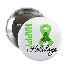 "Lymphoma Christmas 2.25"" Button (100 pack)"