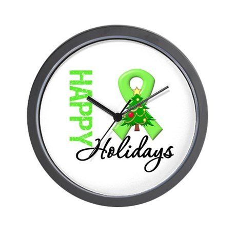Lymphoma Christmas Wall Clock