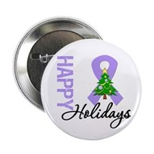"General Cancer Christmas 2.25"" Button (100 pack)"