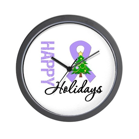 General Cancer Christmas Wall Clock