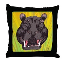 Hippotamus Throw Pillow