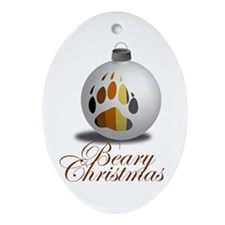 Bear Ornament Oval Ornament