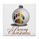 Bear Ornament Tile Coaster