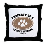 Property of A Boxador Throw Pillow