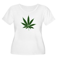 Simple Marijuana Leaf T-Shirt