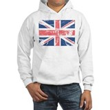 Worn and Vintage British Flag Hoodie