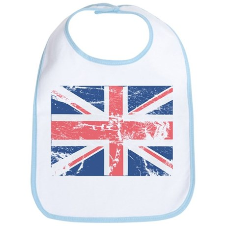 Worn and Vintage British Flag Bib