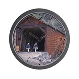Covered Bridge Walkers Wall Clock