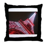 Funny Paris Throw Pillow