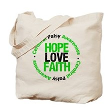 CerebralPalsyHopeLoveFaith Tote Bag