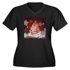 Cute Joyous christmas Women's Plus Size V-Neck Dark T-Shirt