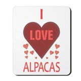 I Love Alpacas Mousepad