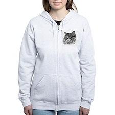 Maine Coon Cat Zipped Hoody