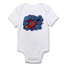 Rocket Ship 2nd Birthday Infant Bodysuit