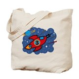 Rocket Ship 3rd Birthday Tote Bag