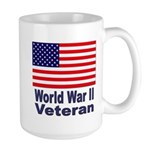 World War II Veteran Large Mug