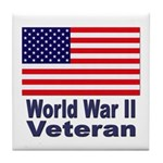 World War II Veteran Tile Coaster