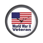 World War II Veteran Wall Clock