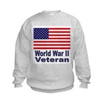 World War II Veteran (Front) Kids Sweatshirt