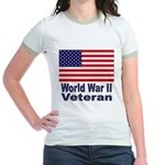 World War II Veteran (Front) Jr. Ringer T-Shirt